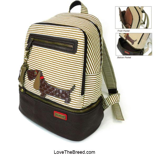 Dachshund Backpack Striped Chala