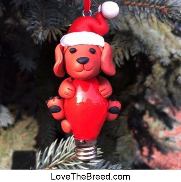 Dachshund on Christmas Bulb Ornament