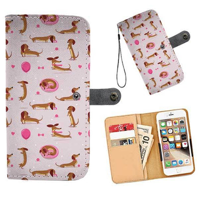 Cell Phone Wallet Cases Dachshund Fun