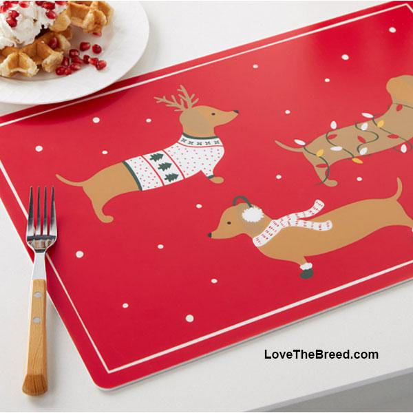 Dachshund Holiday Place mat