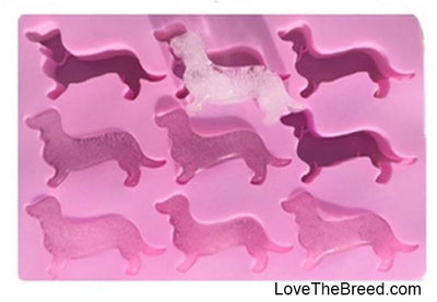 Dachshund Silicone Ice Cube Tray, Chocolate Mold , Soap Mold