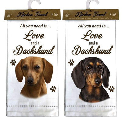 Dachshund Kitchen Towel Love and a Dachshund