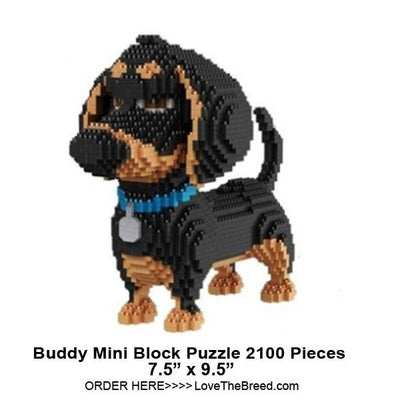 Dachshund Buddy from Secret Life of Pets mini blocks puzzle 2100 pieces