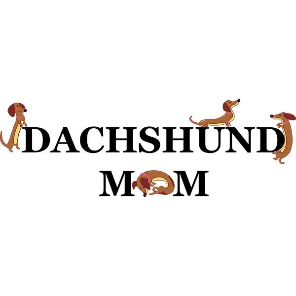Dachshund Mom Brown Night Shirt / Beach Cover-up