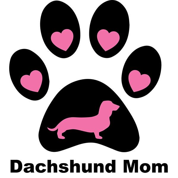 Dachshund Mom Paw Print Night Shirt / Beach Cover-up