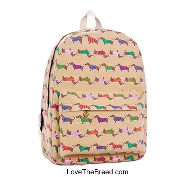 Dachshund Canvas Print Backpack