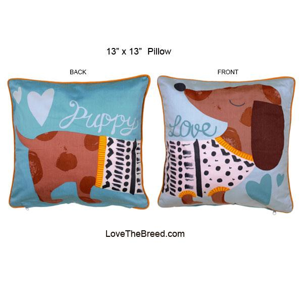 Dachshund Puppy Love Pillow