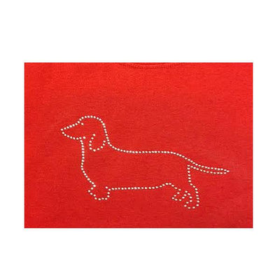 Dachshund Rhinestone Shirt RED