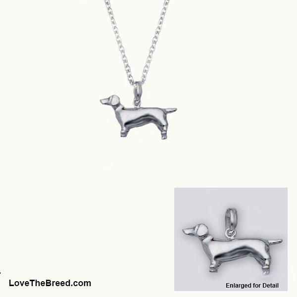 Dachshund Sterling Silver Charm Necklace
