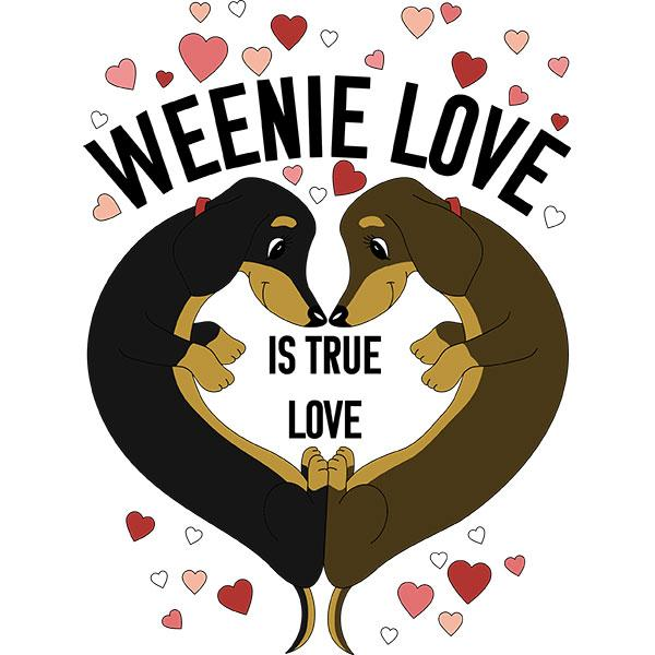 Dachshund Weenie Love Extra Large Tote