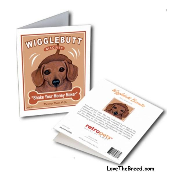 Wiggle Butt Biscuits Note Card - with Envelope + FREE SHIPPING