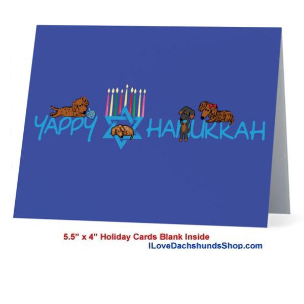 Dachshund Yappy Hanukkah Card - As low as $1.20 with Envelope
