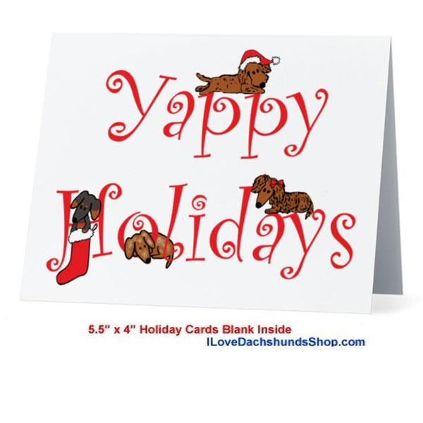 Dachshund Yappy Holidays Card - NOW as LOW as .69