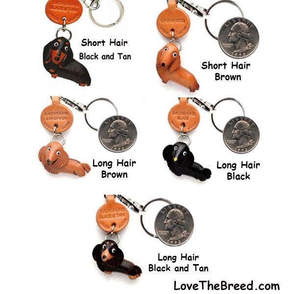 Dachshund Leather Key Chains