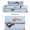Dachshund Light Blue Sheet Set