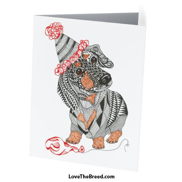 Dachshund Birthday Card with Envelope