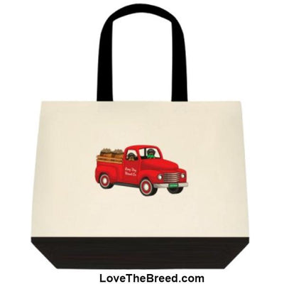 Dachshund Biscuit Truck Black and Tan Dogs Extra Large Tote