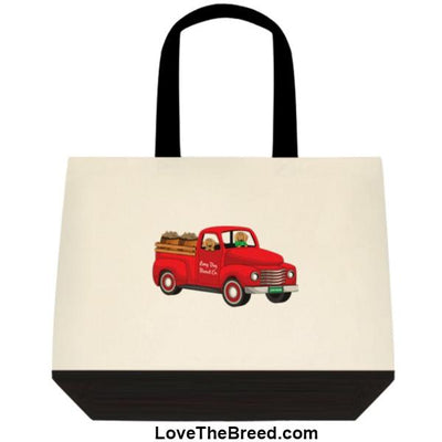 Dachshund Biscuit Truck Brown Dogs Extra Large Tote