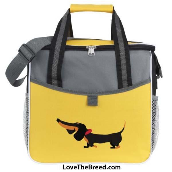 Dachshund Large Cooler Bag in Yellow