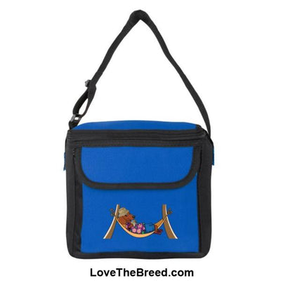 Dachshund Brown in Hammock Small Cooler Bag Blue