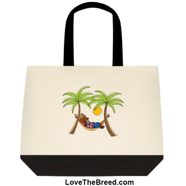 Dachshund Brown in Hammock Extra Large Tote