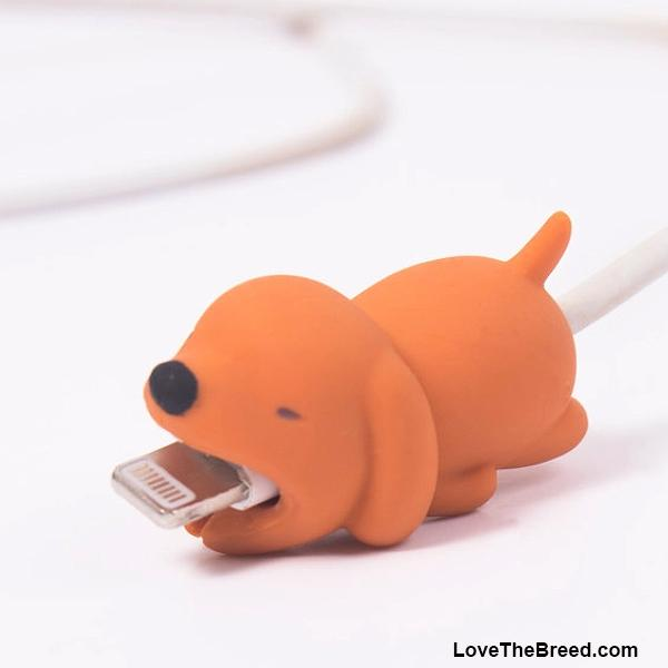 Dog Bite Mobile Cell Phone Cable Protector