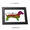 Dachshund Crazy Love Framed Print 5 x 7