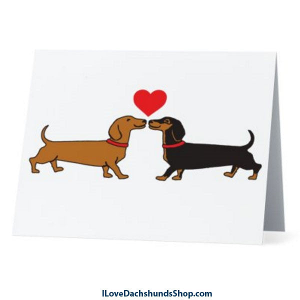 Dachshund Long on Love Note Card with Envelope