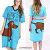 Dachshund Night Shirt I Long to be Around You