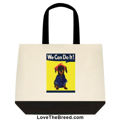 Dachshund Rosie the Riveter Extra Large Tote