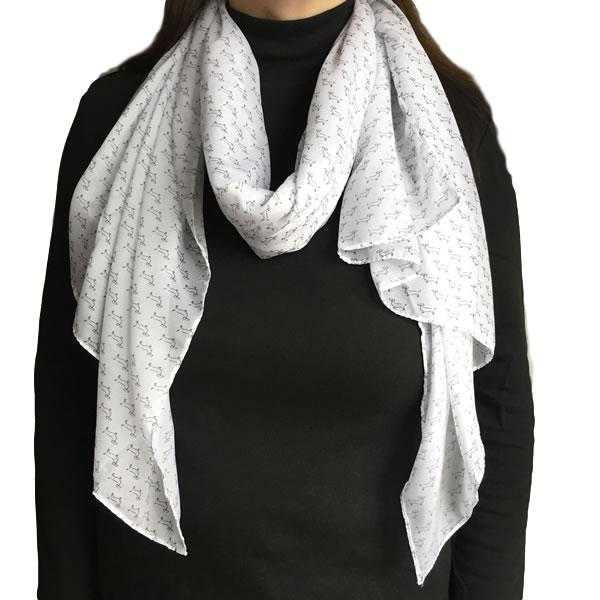 Dachshund Scarf Black and White