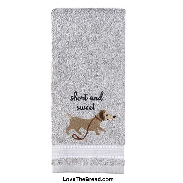 Dachshund Short and Sweet Hand Towel