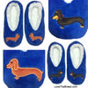 Dachshund Blue PLUSH Slippers Love The Breed