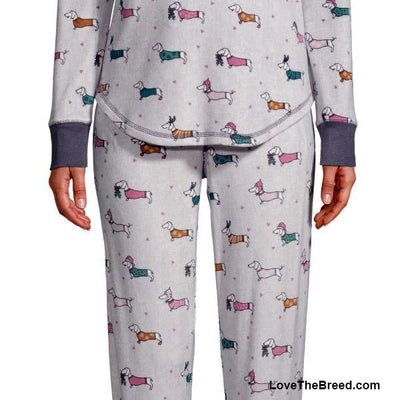 Dachshund Winter Fun Super Soft Pajama Set