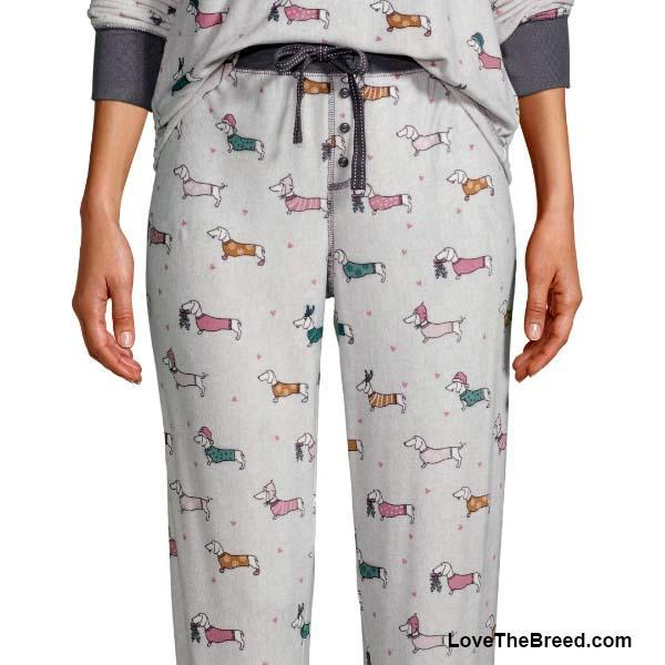 Dachshund Winter Fun Super Soft Pajama PANTS
