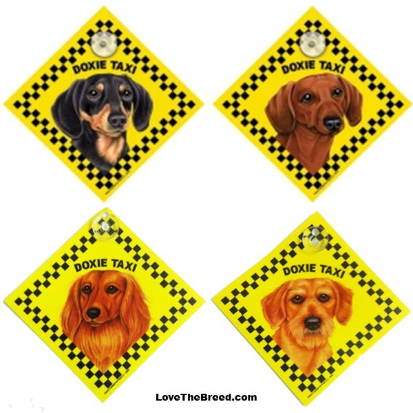 Dachshund Taxi Car Sign