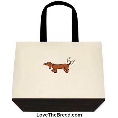 Dachshund Wags of Happiness Extra Large Tote