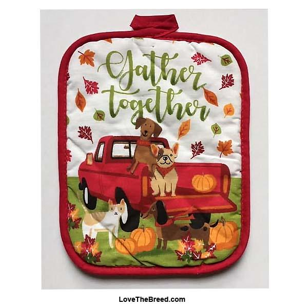 Dachshund and Friends Fall Harvest Pot Holder