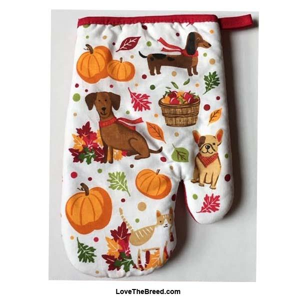 Dachshund and Friends Fall Harvest Oven Mitt