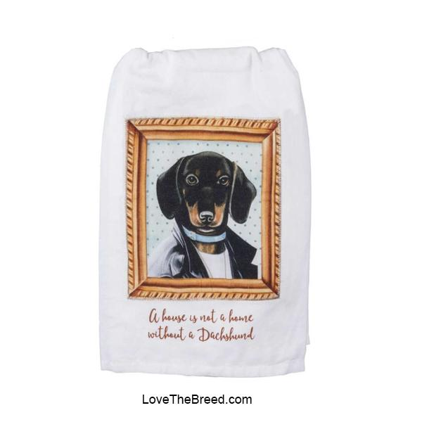 A House is not a Home without a Dachshund Hand Towel