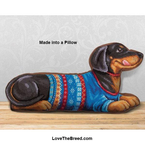 Dachshund in Sweater Counted Cross Stitch Kit
