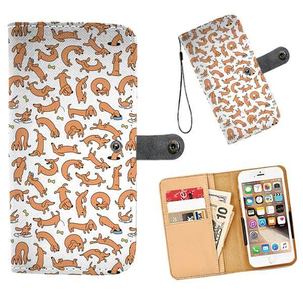 c8da21273ec Cell Phone Wallet Cases Dachshunds Everywhere - LoveTheBreed.com
