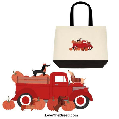 Dachshunds Fall Harvest Extra Large Tote