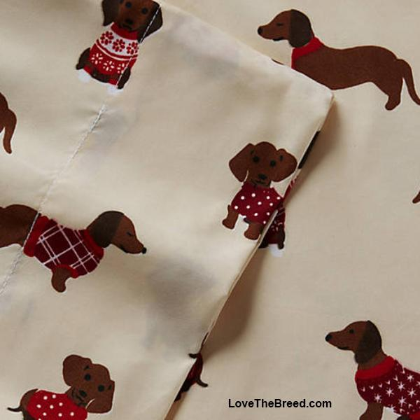 Dachshunds in Sweaters Super Soft Sheet Set