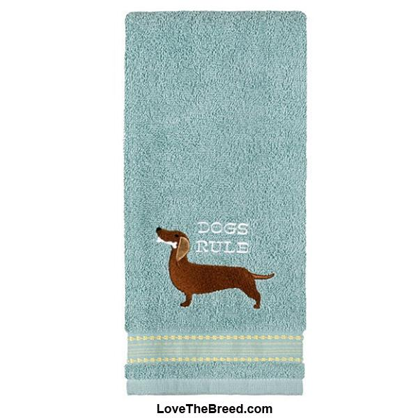 Dachshund Dogs Rule Hand Towel