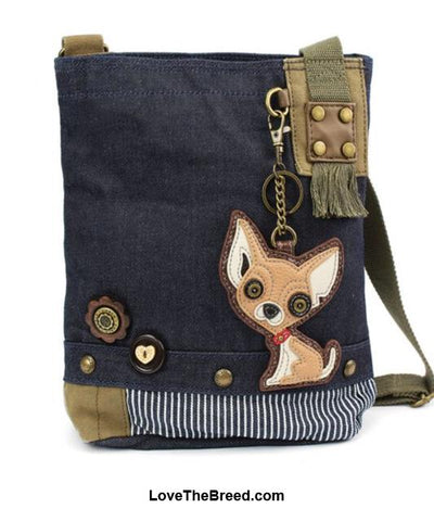 Chihuahua Patch Crossbody Bag Adjustable Strap Chala