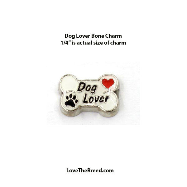 Dog Lover Bone Floating Charm