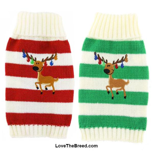 Dachshund Holiday Dog Sweater With Reindeer Lovethebreed Com