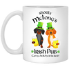 Dachshund Shorty McLong's Irish Pub Mugs