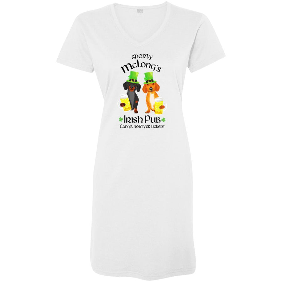 Dachshund Shorty McLong's Irish Pub Night Shirt / Beach Cover-up